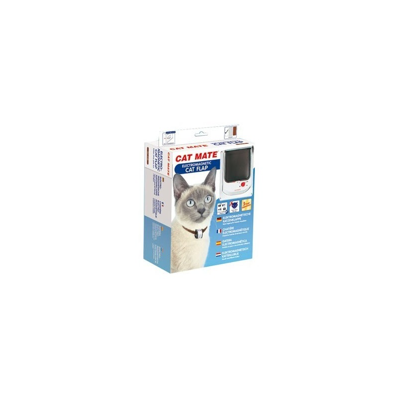 Cat Mate 254W Electromagnetic Cat Flap - White