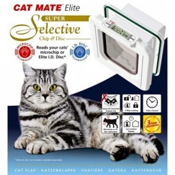 Cat Mate Elite Super Selective Microchip & Disc Cat Flap 355W