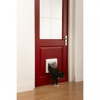 Staywell 917 Cat Flap with Tunnel - White