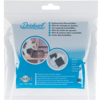 Drinkwell Current Fountain Replacement Charcoal Filters - 4 pack