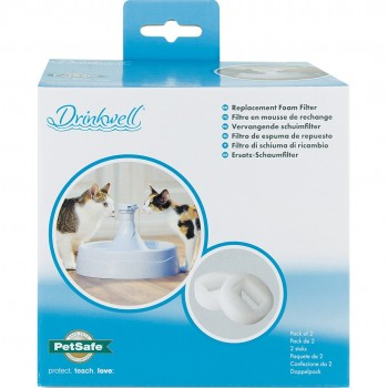 Drinkwell 360 Plastic Pet Fountains Replacement Foam Filters (2-Pack)