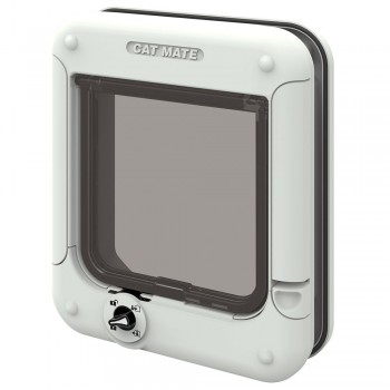 CAT MATE 358W ROTARY 4 WAY LOCKING CAT FLAP - WHITE
