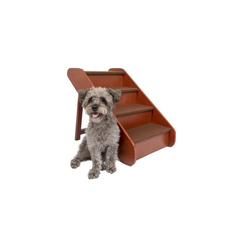 PetSafe® CozyUp™Folding Wood Pet Steps, 4 Steps 50cm High