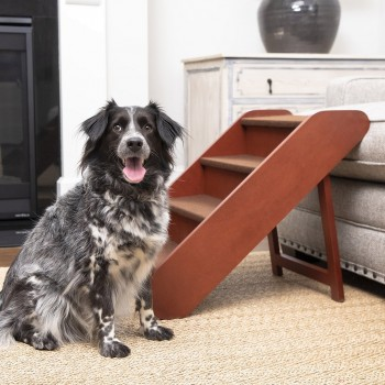 PetSafe® CozyUp™Folding Wood Pet Steps, 4 Steps 64cm High