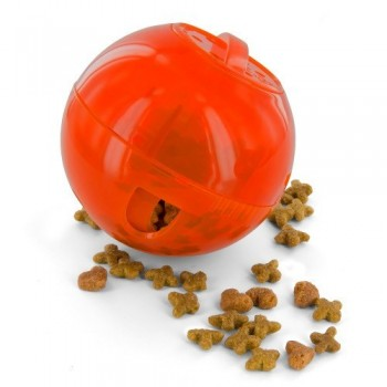 PetSafe® Multivet Multivet SlimCat Cat Toy Ball Feeder (Orange)